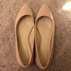 Nine West Onlee Pointy Flats in Soft Pink